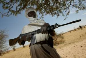 The Sudan Liberation Army (SLA) is a rebel group active in the conflict-wracked Darfur region of Sudan.  By STUART PRICE (ALBANY ASSOCIATES/AFP)