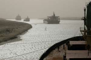 The Suez Canal blockage has stalled more than 200 vessels at either end of the waterway.  By Christos GOULIAMAKIS (AFP/File)