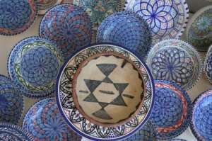 The pottery from Sejnane is made with red and white clay from local wadis and was included in 2018 on UNESCO's intangible cultural heritage list. By FETHI BELAID (AFP)