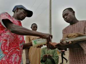 The pandemic has spurred concerns for the camp's supply lines in the months ahead.  By Audu Marte (AFP)