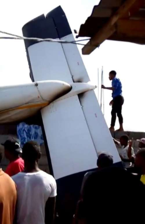The plane crashed down in a densely-populated area of DR city Goma.  By Didier Kamathe (AFP)