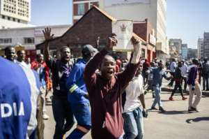 The protesters are angry over the country's worsening economic conditions.  By Zinyange Auntony (AFP/File)