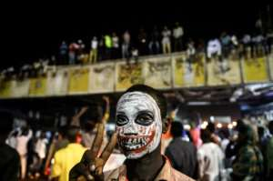 The protesters have gathered day and night outside army headquarters in Khartoum since April 6. By Mohamed el-Shahed (AFP)
