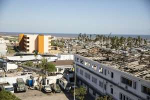 The ravages of Cyclone Idai are still very apparent in Beira six months after the storm raged over the port city.  By WIKUS DE WET (AFP/File)