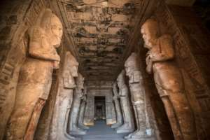 The Ramses II Temple at the archeological site of Abu Simbel in southern Egypt; the three-millenia old temples were moved in a giant rescue mission before they were drowned by rising waters in Lake Nasser.  By Khaled DESOUKI (AFP)