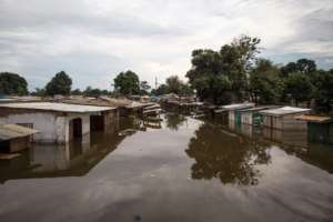 The Red Cross estimated the flooding has left at least 28,000 people homeless.  By FLORENT VERGNES (AFP)