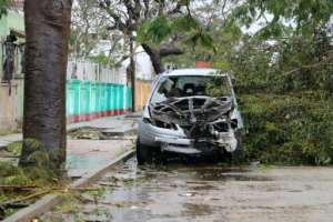 The Red Cross said 90 percent of Beira its surrounds are