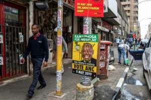 The ruling African National Congress is reeling from public anger over massive unemployment, corruption and poor housing and public services.  By GULSHAN KHAN (AFP/File)