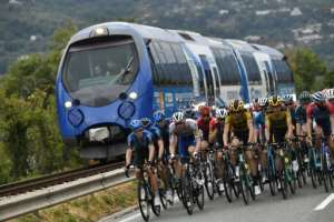 The Tour de France cycling race finally set off from Nice, two months late due to the pandemic.  By Marco Bertorello (AFP)