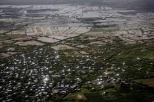 The town of Beledweyne was inundated in the flood -- the waters are now slowly receding.  By LUIS TATO (AFP)