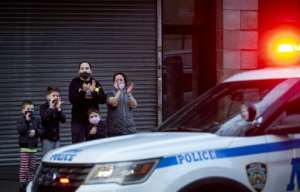 The toll in badly hit New York, where the virus has killed more than 10,000 people, climbed again Tuesday.  By Johannes EISELE (AFP)
