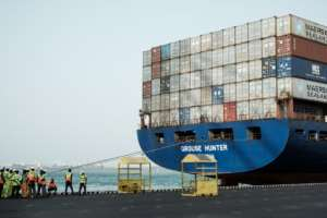 The terminal is an essential facility for supplies to neighbouring landlocked Ethiopia.  By MARCO LONGARI (AFP)