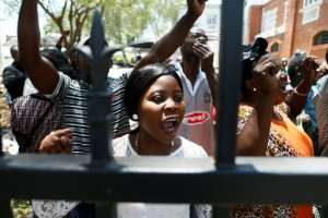 The UN agency said about 150 foreign nationals had forced their way into the Pretoria compound.  By Phill Magakoe (AFP)