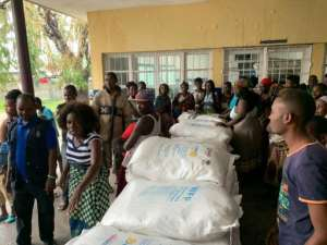 The UN World Food Programme (WFP) has so far dispatched more than five tonnes of emergency provisions. By DEBORAH NGUYEN (WFP/AFP)