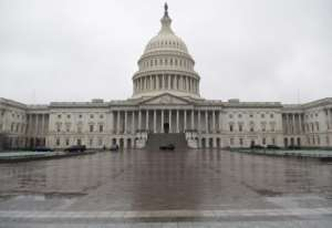 The US Capitol is seen on March 23, 2020 as the Senate negotiates a coronavirus stimulus package.  By SAUL LOEB (AFP)