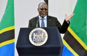 The US statement came amid sustained criticism of the rule of President John Magufuli, pictured in October 2016, who has cracked down on dissent since taking office in 2015.  By SIMON MAINA (AFP/File)