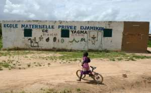 The village school in Yagma.  By ISSOUF SANOGO (AFP)