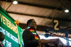 The Zimbabwe Electoral Commission published a provisional list of approved candidates that include President Emmerson Mnangagwa, pictured in May 2018.  By Jekesai NJIKIZANA (AFP/File)