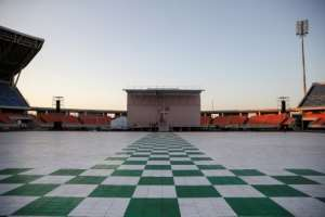 The Zimpeto Stadium on the outskirts of Maputo has been spruced up for a giant mass.  By GIANLUIGI GUERCIA (AFP/File)