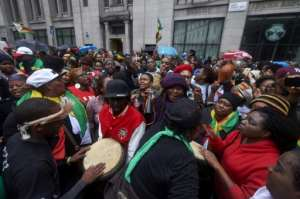 There were even anti-Mugabe protests in London