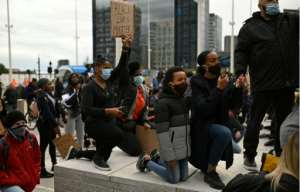 There are fears that the ongoing protests in the United States over racism and police brutality could fuel the spread of the virus.  By Oli SCARFF (AFP)