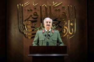 There are questions about Russia's commitment to Haftar.  By - (LNA War Information Division/AFP/File)