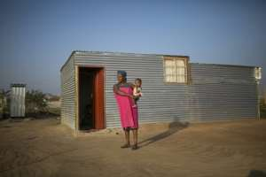 There is no electricity and no running water in Juju Valley, but residents live here rent-free. By GUILLEM SARTORIO (AFP)