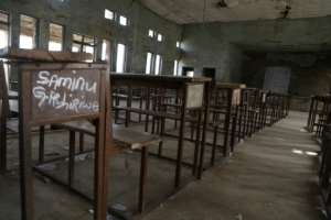 This classroom in Kagara, northwestern Nigeria, is also deserted.  By Kola Sulaimon (AFP/File)