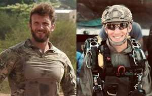 This handout photo released by France's Marine Nationale shows the two French commandos who were killed during the rescue operation, Cedric de Pierrepont (L) and Alain Bertoncello (R). By HO (MARINE NATIONALE/AFP)