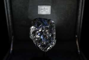 This picture taken on January 21, 2020, shows the world's second- biggest rough diamond named