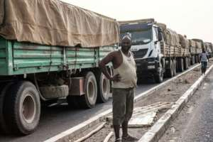 Time to wait: Tariffs are not the only impediment to trade -- poor transport infrastructure is a major problem in Africa.  By Yasuyoshi CHIBA (AFP)
