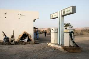 Tichitt needs a road, says mayor Hamadou Lah Medou. But its petrol station is often empty anyway.  By JOHN WESSELS (AFP)