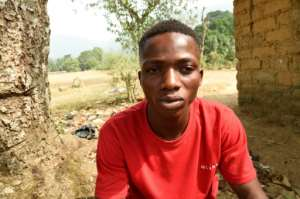 Tony Kajang, 22, says Cameroonian soldiers came across the border into Nigeria to say it was safe for people to return -- but troops started shooting as his group neared their home village