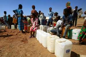 Toilets have been put in place across the camp and UN children's agency UNICEF has installed water tanks.  By ASHRAF SHAZLY (AFP)