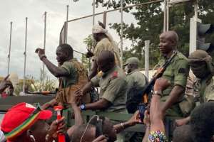 Troops were cheered by crowds as they arrived at Independence Square in Bamako.  By MALIK KONATE (AFP)