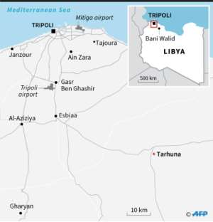 Map showing the Libyan capital Tripoli and surroundings, including Tarhuna.  By  (AFP)