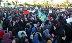 Tripoli residents demonstrate against Libyan strongman Haftar in the capital's Martyrs Square.  By Mahmud TURKIA (AFP)