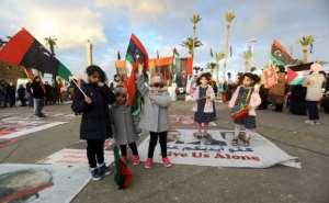Tripoli residents organised a demonstration last week against Haftar's offensive.  By Mahmud TURKIA (AFP/File)