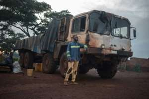 Trucks provide a lifeline to Zemio -- they bring in supplies from Bangui, 1,000 kilometres away. The roads are so damaged and dangerous that the trip two months.  By FLORENT VERGNES (AFP)