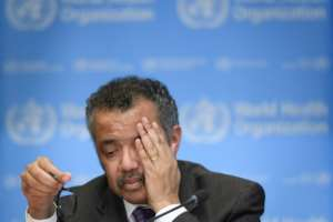 Trump wrote a letter to WHO chief Tedros Adhanom Ghebreyesus threatening to pull the US out on the UN body.  By Fabrice COFFRINI (AFP)