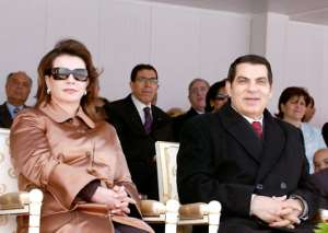 Tunisia's autocratic president Zine El-Abidine Ben Ali, pictured here with his wife Leila, fled amid the mass protests to Saudi Arabia, where he later died.  By - (Tunisian Presidency/AFP/File)