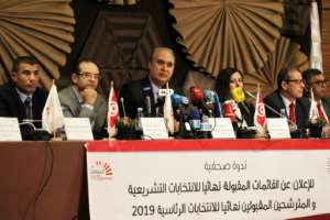 Tunisia's electoral commission announces the final list of 26 presidential candidates.  By - (AFP)