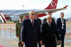 Turkish President Recep Tayyip Erdogan backs Libya's UN-recognised government against strongman Khalifa Haftar who is supported by Egypt, Russia and the United Arab Emirates.  By Murat KULA (TURKISH PRESIDENTIAL PRESS SERVICE/AFP)