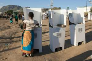 Turnout was 74 percent of 6.8 million registered voters..  By AMOS GUMULIRA (AFP)