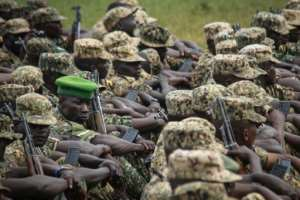 Ugandan troops are among those deployed to peacekeeping forces in Somalia.  By Gael Grilhot (AFP/File)