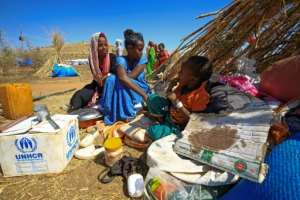 Um Raquba is Sudan's only official refugee settlement.  By ASHRAF SHAZLY (AFP)