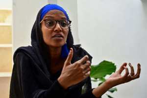 Umra Omar, 36, founded Safari Doctors four years ago.  By TONY KARUMBA (AFP)