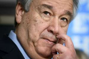 UN chief Antonio Guterres is seeking a reduction in the size of the UN force in DRCongo.  By Fabrice COFFRINI (AFP)