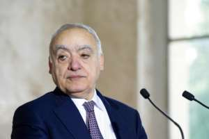 UN Envoy for Libya Ghassan Salame has mediated in talks held in Geneva, where he said representatives of the warring parties had agreed on the principle of turning their shaky truce into a lasting ceasefire.  By Handout (UNITED NATIONS/AFP/File)