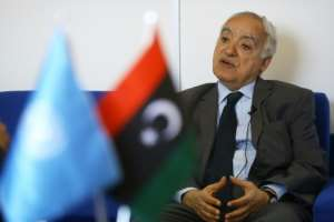 UN envoy for Libya Ghassan Salame speaking to AFP in Tripoli.  By Mahmud TURKIA (AFP)